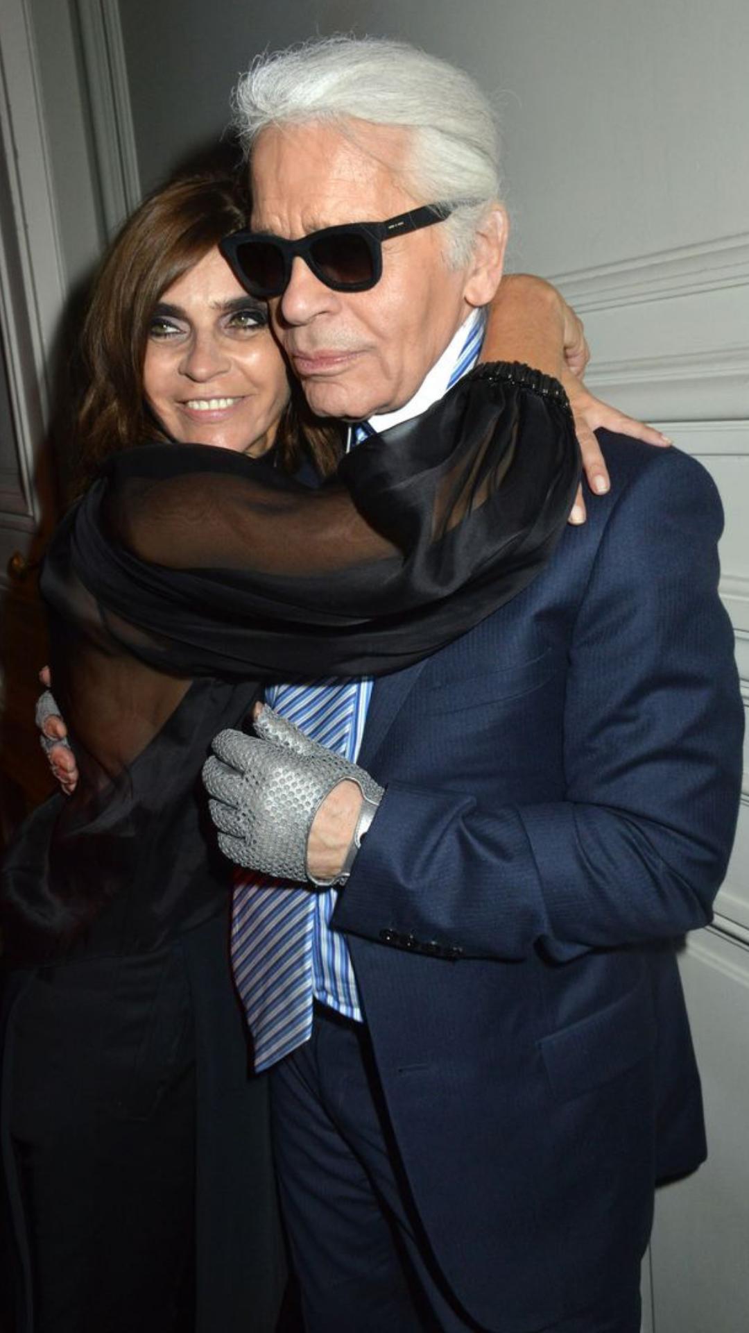 Carine Roitfeld and Karl Lagerfeld