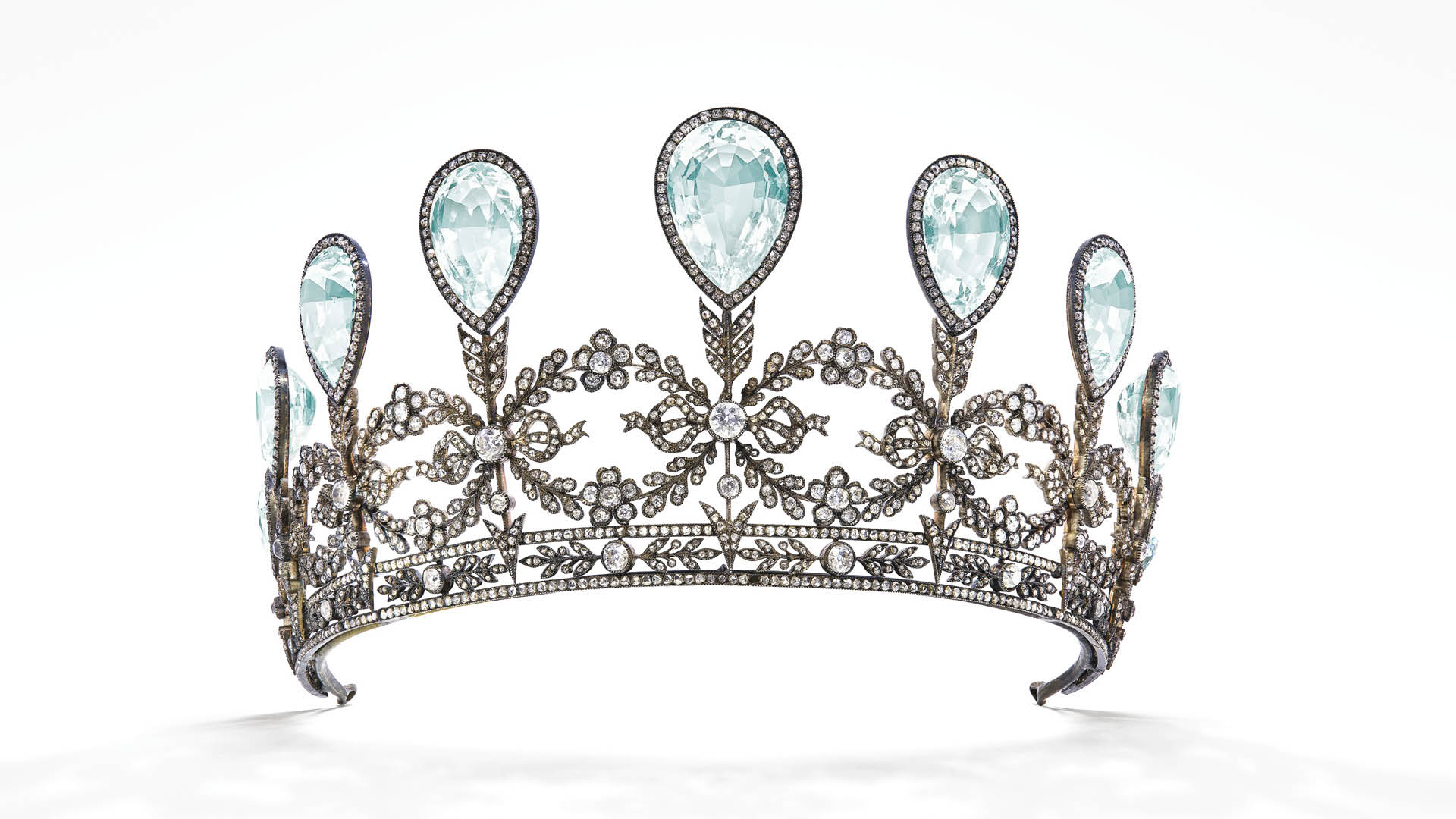 Christies aquamarine diamond Faberge tiara