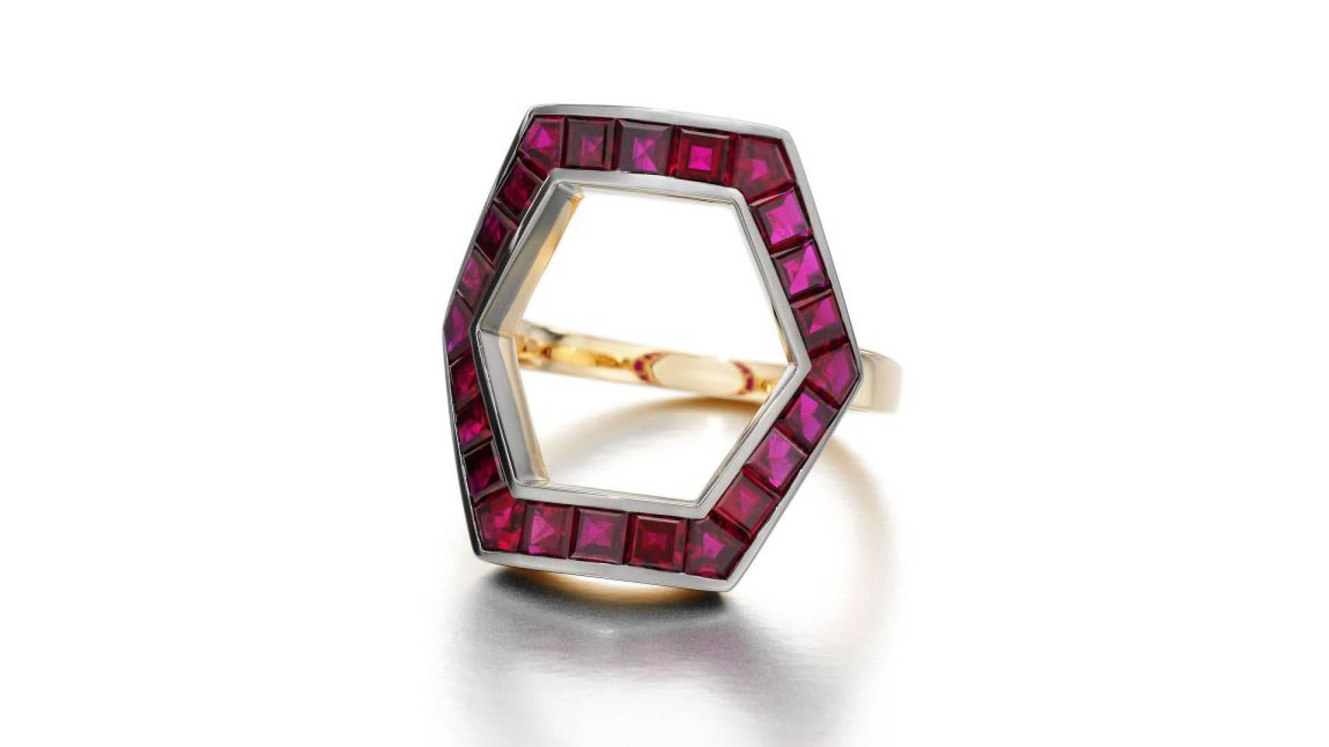 Jessica-Mccormack_Hexagonal-Ruby-Ring