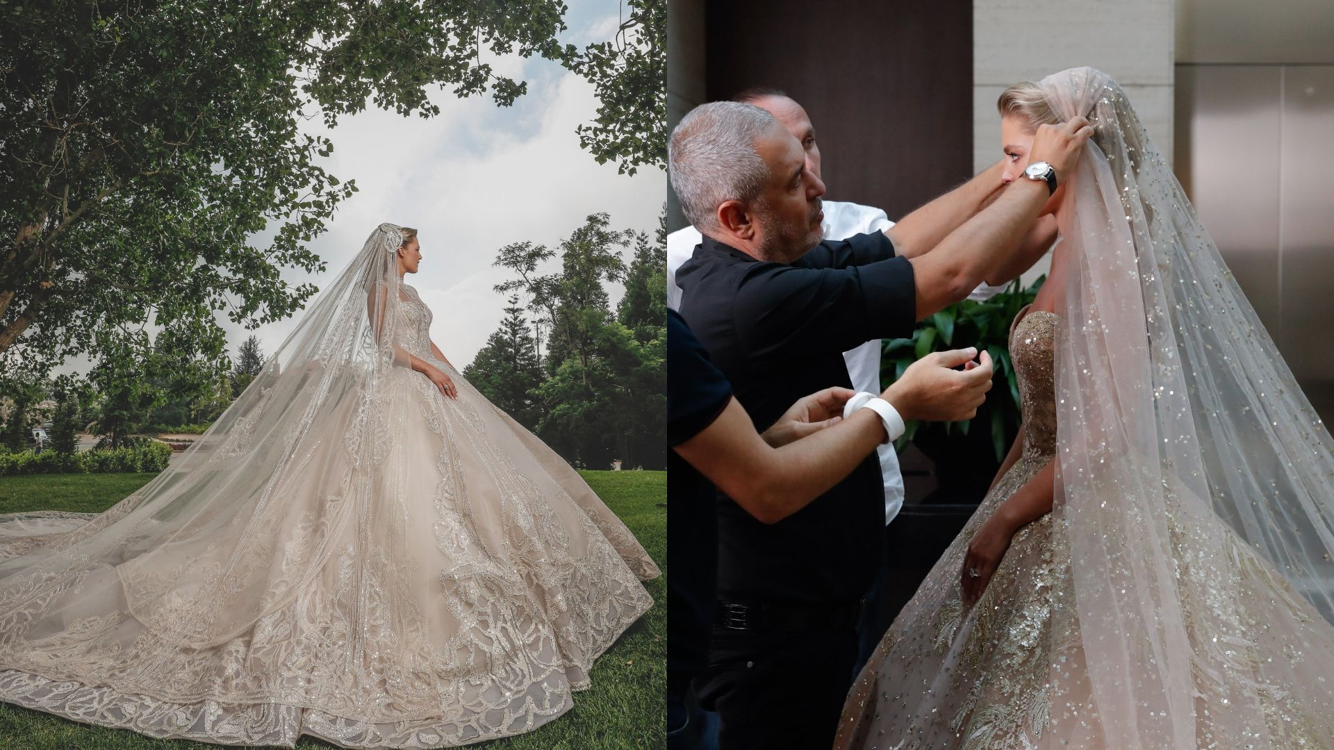 Christina Mourad S Elie Saab Wedding Gown From Every Angle Harper S Bazaar Arabia