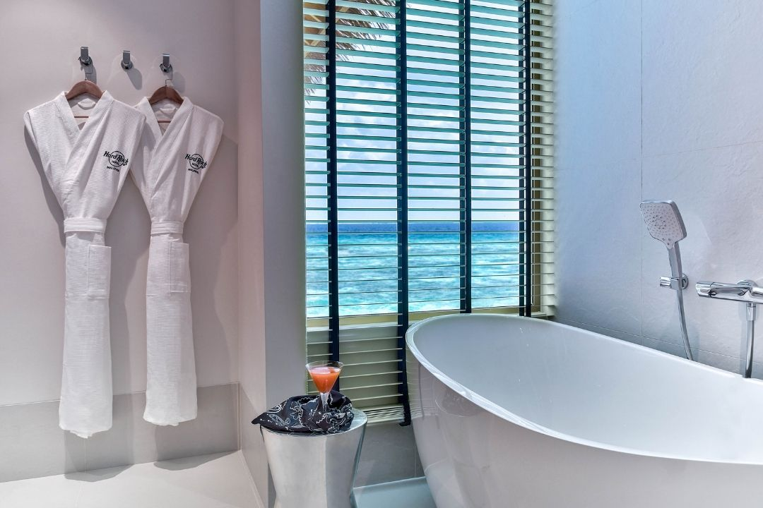 Hard Rock Maldives his and hers robes