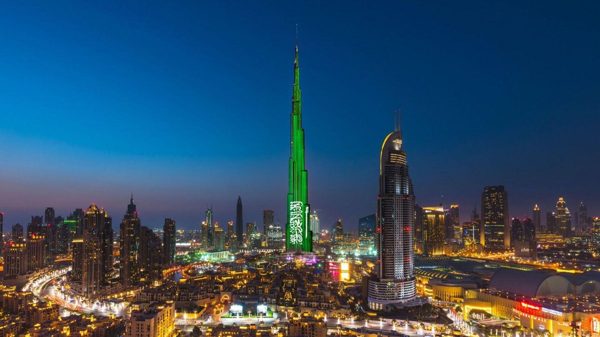 Burj Khalifa Saudi National Day 2019 celebration
