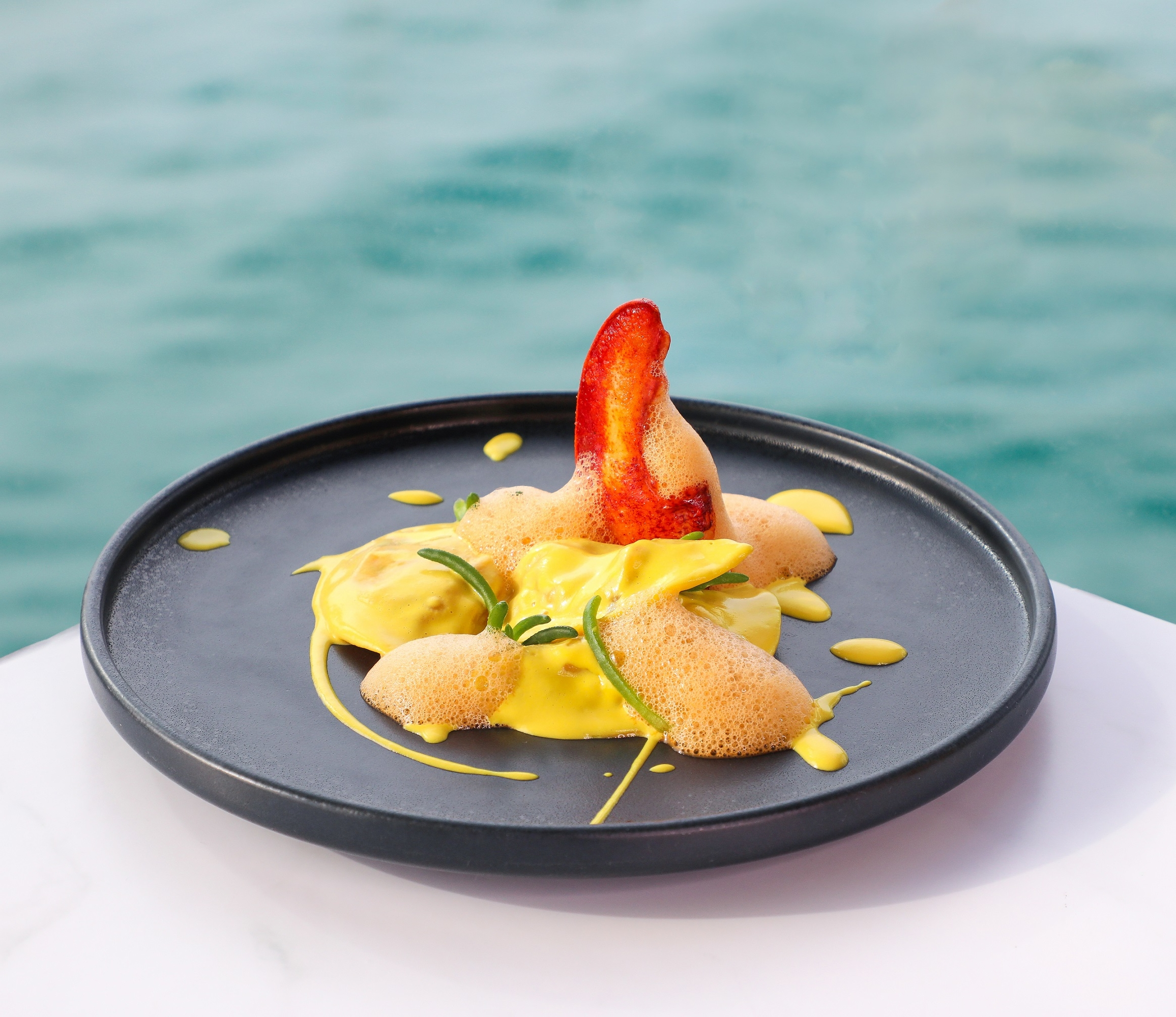 Pierchic lobster and UAE ricotta ravioli