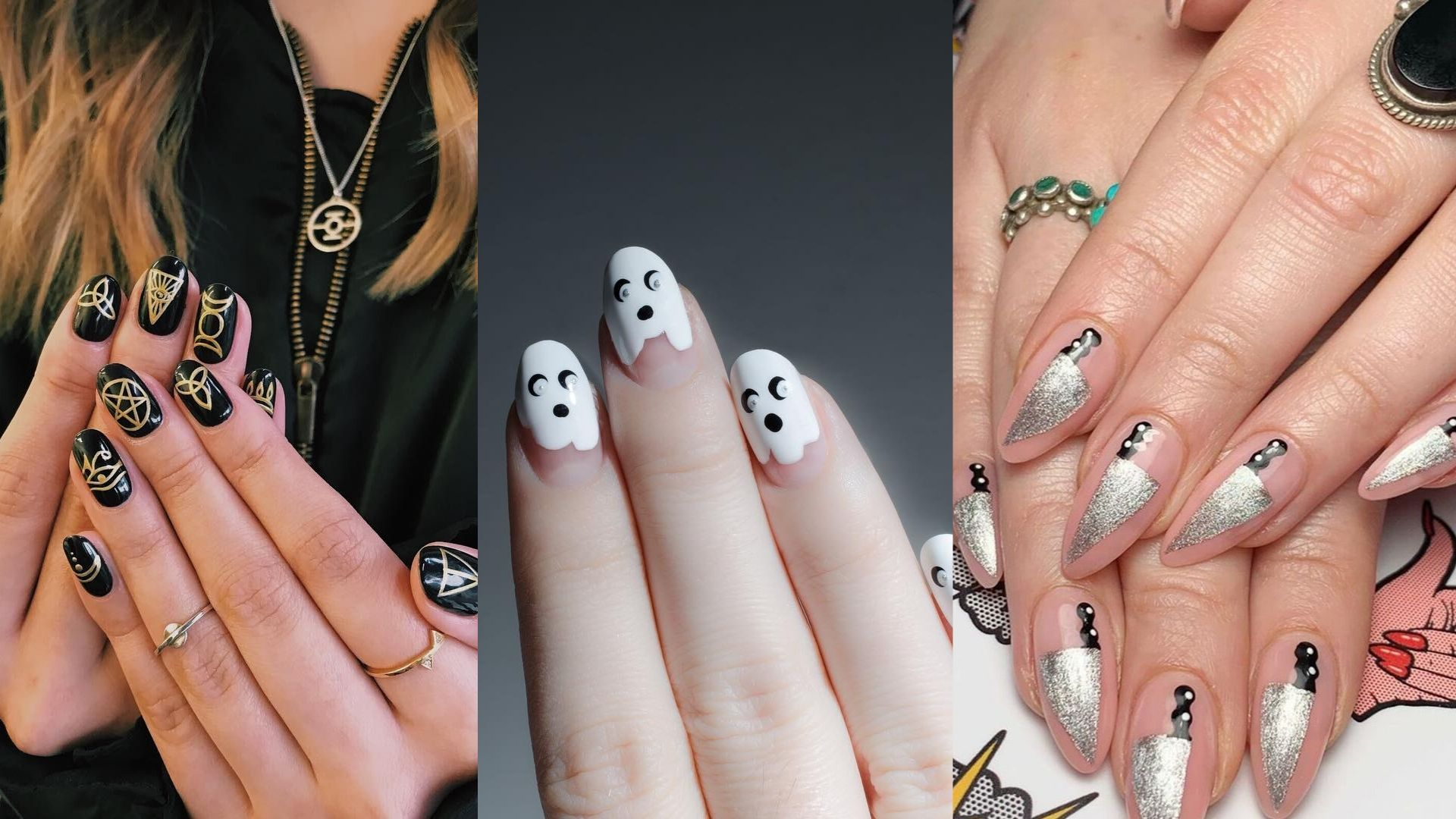 10 Stunning Spooky Nail Art Ideas For Halloween Harper S Bazaar Arabia