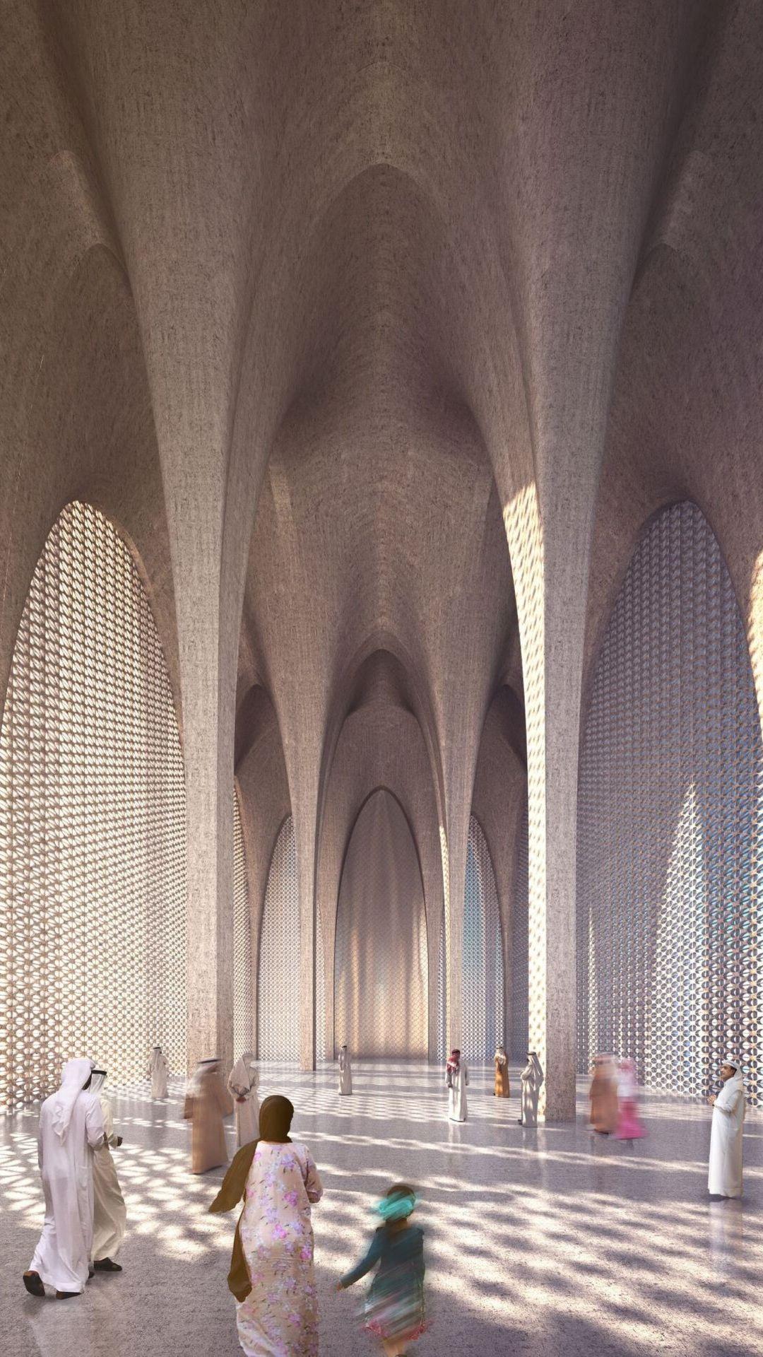 Abrahamic-Family-House-Mosque-interior-Adjaye-Associates
