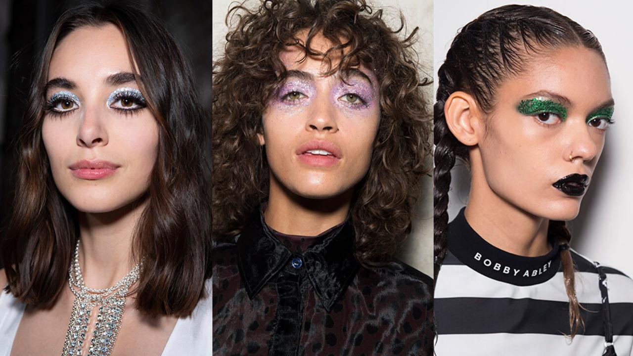 SS20 Beauty Trends Catwalk Runway Glitter Festive Event Make Up