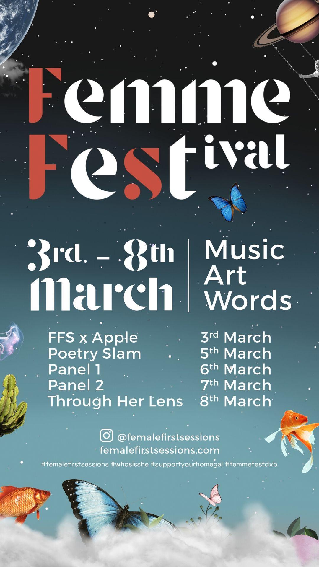 femme festival calendar