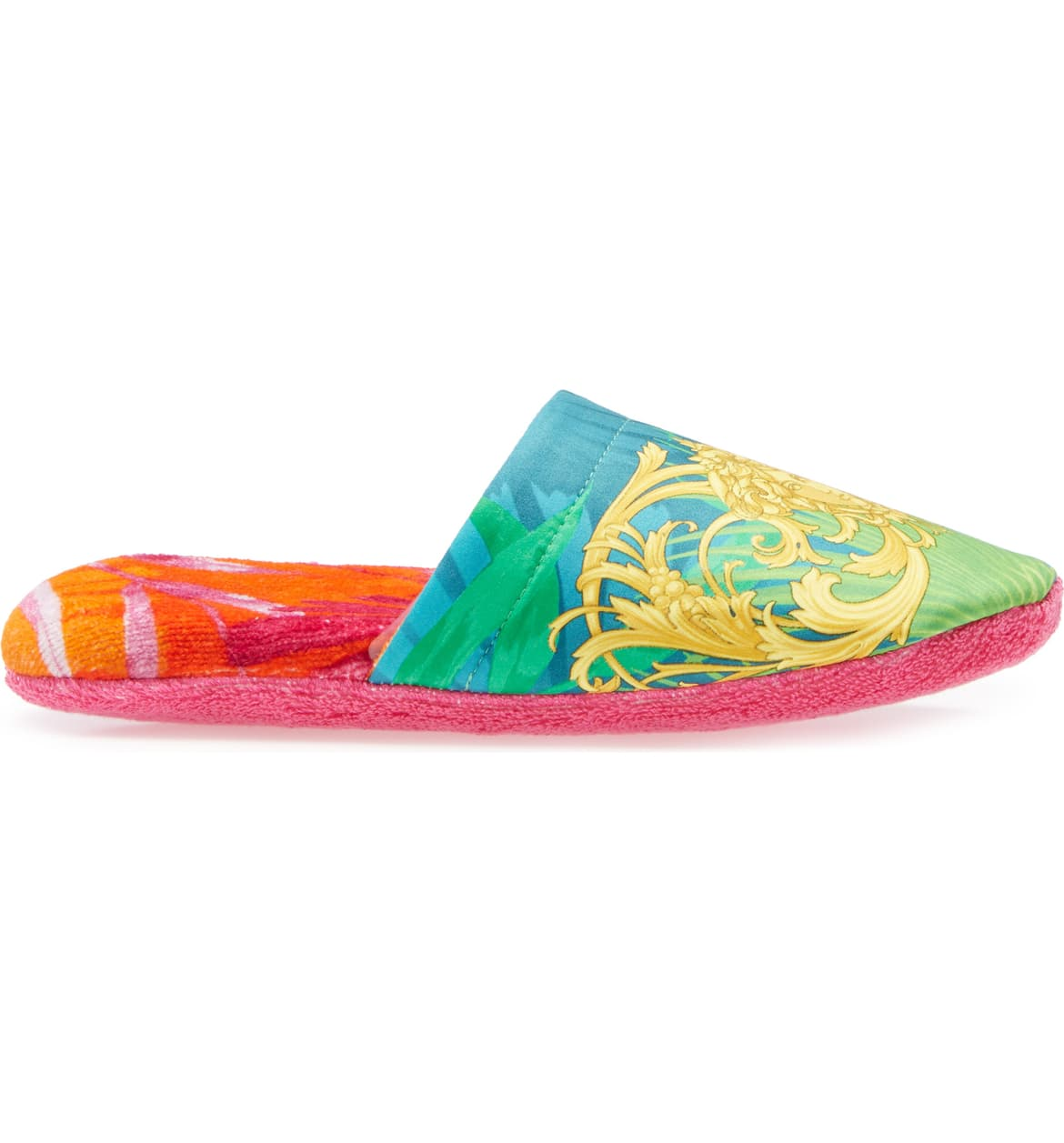 versace pink slippers