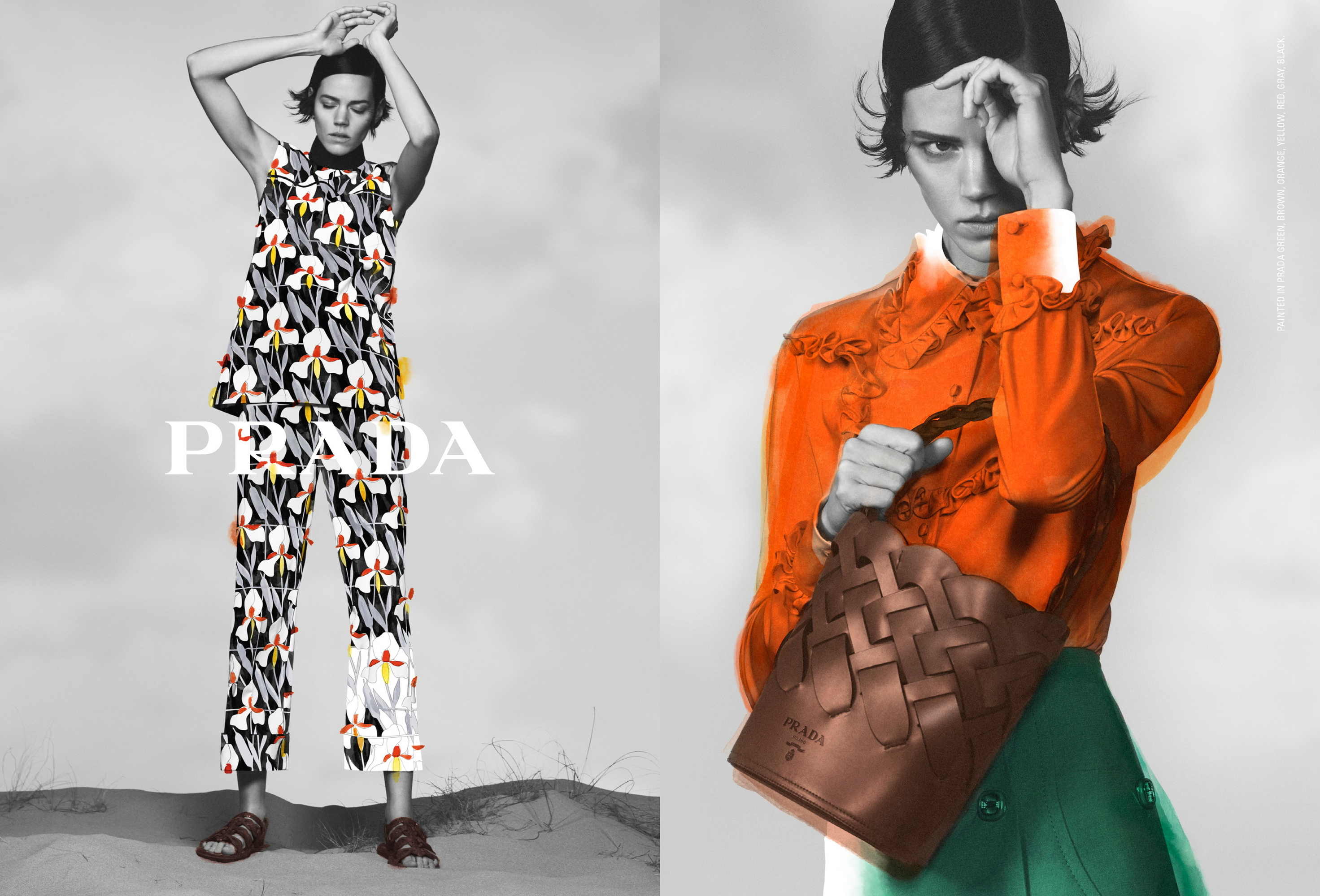 Behind The Lens Prada S Pre Fall 2020 Campaign By David Sims Harper S Bazaar Arabia