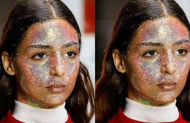 The Arab Model Showcasing This Season's Peak Glitter Look