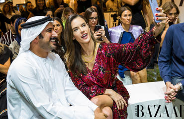 Alessandra Ambrosio Sat FROW At House Of Bazaar's Regional Fashion Icons Show