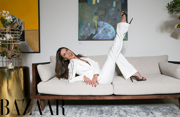 Alessandra Ambrosio Makes A Case For The All-White Suit At House Of Bazaar