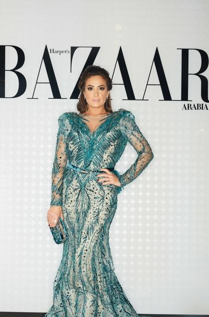 Hend Sabri wearing Ziad Nakad