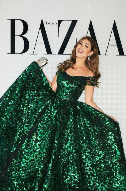 Mai Selim wearing Yousef Al Jasmi