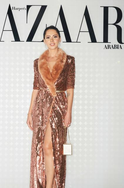 Yasmin Raeis wearing Elisabetta Franchi and IO Shoes