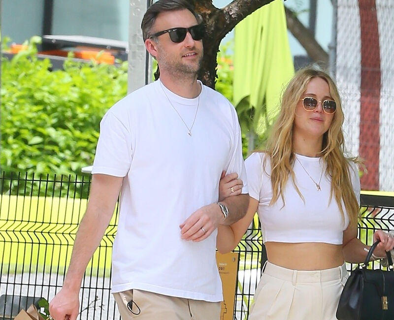 Cooke Maroney and Jenifer seen on streets of New York