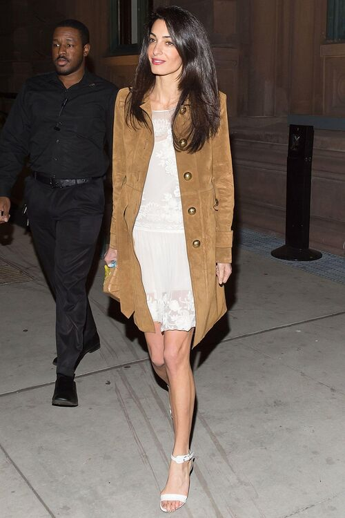 Amal Clooney Steps Out In Autumnal Floral Style