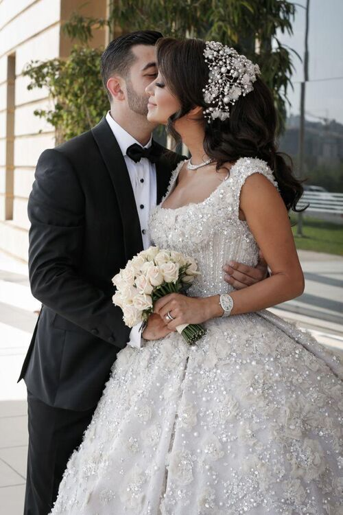 Lana El Sahely and Ali Awada