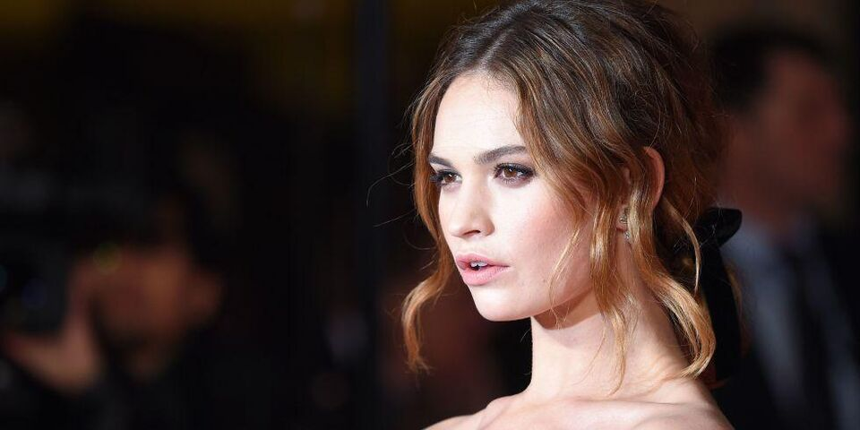 Lily James Is The New Face Of Burberry Fragrances