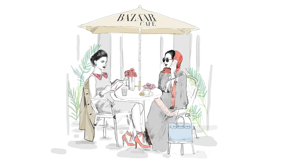 World First: Harper's Bazaar Café Opens In Dubai