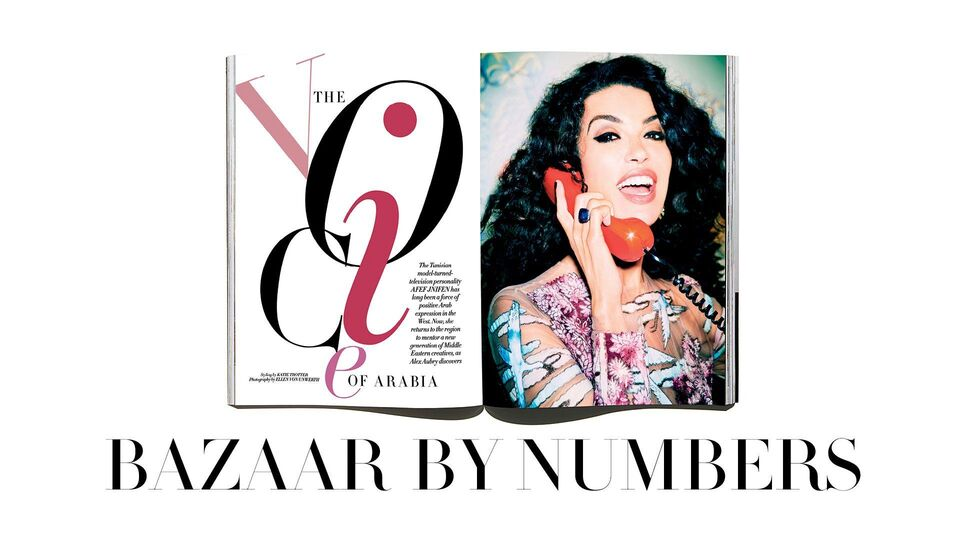 #BazaarByNumbers: Our July/August Cover Shoot With Tunisian Supermodel Afef Jnifen