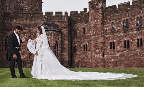 See Ciara's Custom Roberto Cavalli Couture Wedding Dress In Full