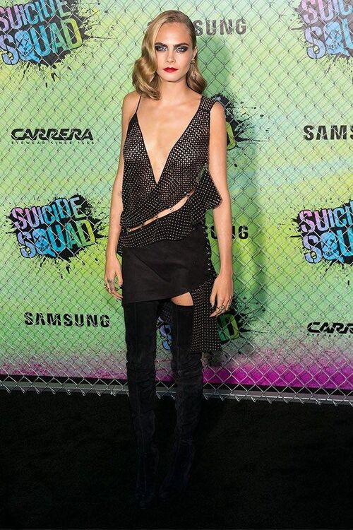 Margot Robbie And Cara Delevingne Continue To Kill It On The 'Suicide Squad' Press Tour