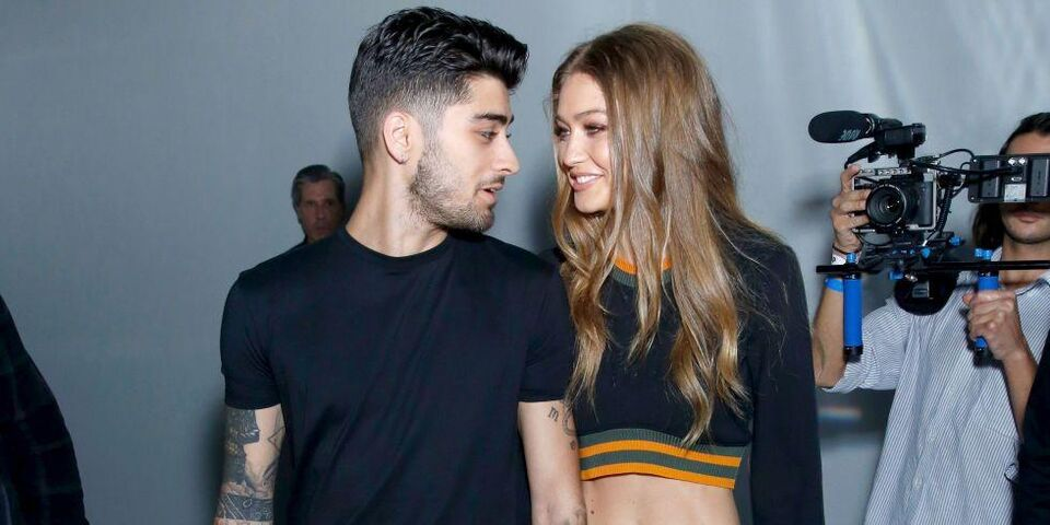 Gigi And Zayn Appear Together At Versus Versace