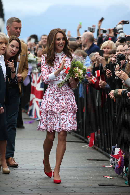 Kate Middleton Opts For Patriotic Elegance In Alexander McQueen