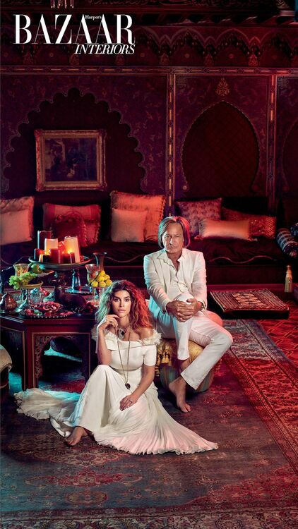 Exclusive: Inside The Incredible LA Home Of Mohamed Hadid and Shiva Safai