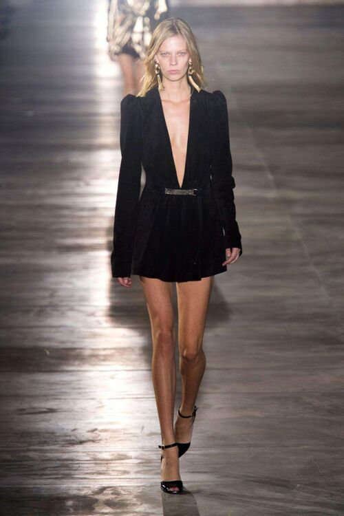 Anthony Vaccarello Make His Saint Laurent Debut