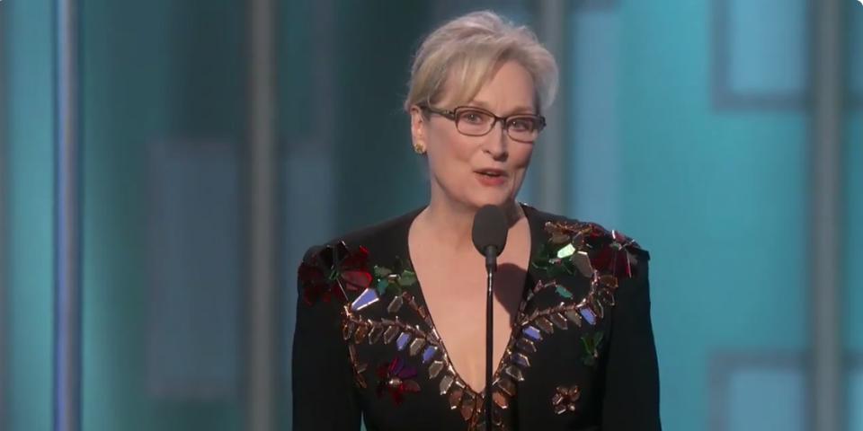 Meryl Streep's Iconic Golden Globes Acceptance Speech