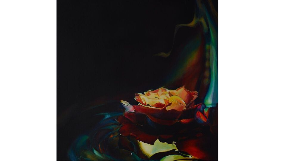 Scent of a Rose: Sheikha Maytha Bint Obaid Al Maktoum Presents Her New Paintings