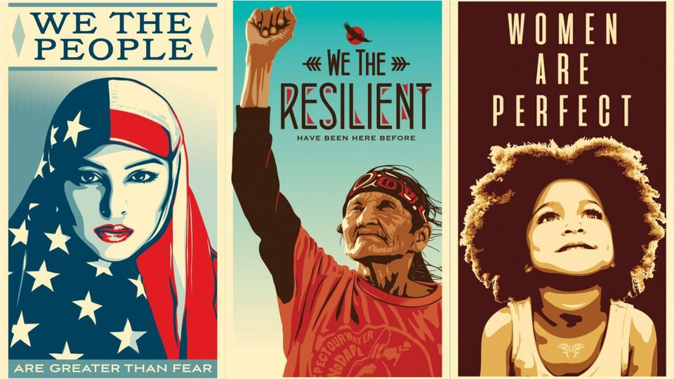 Shepard Fairey Releases We The People Poster Campaign