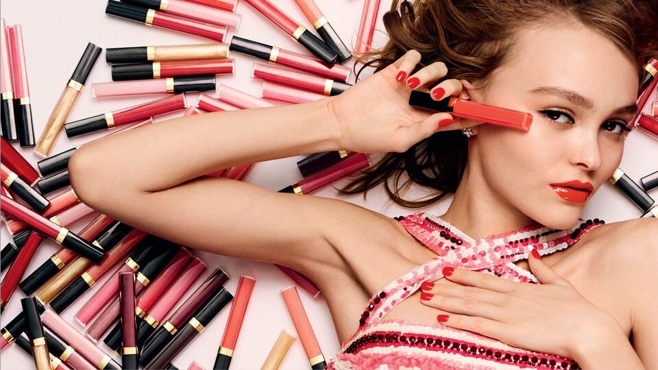 Lily Rose Depp Is The Face Of Chanel Rouge Coco Gloss