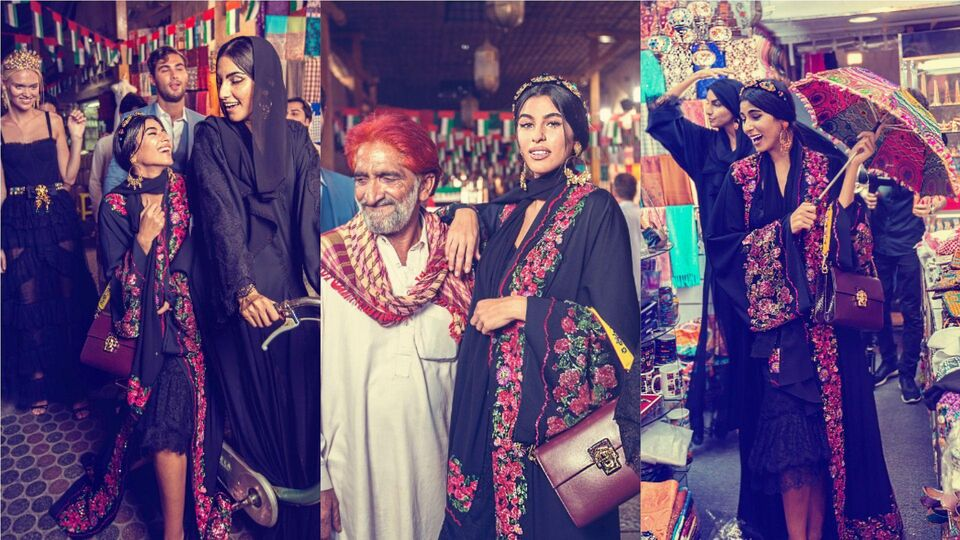 Dolce & Gabbana Shoot New Abaya Campaign In Dubai
