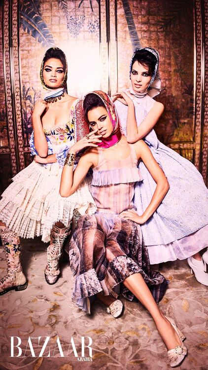 Arabia United: Three Of The World's Most Successful Arab Models Come Together For Our March Issue