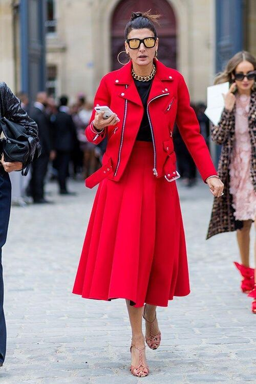 How To Wear Head-To-Toe Red