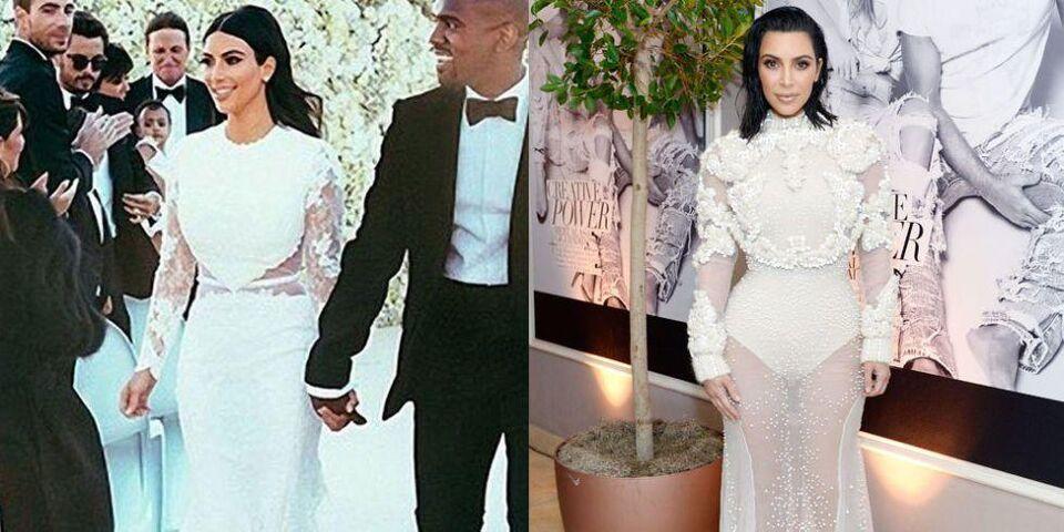 Kim Kardashian Channels Her Wedding Dress In A Rare Red Carpet Appearance