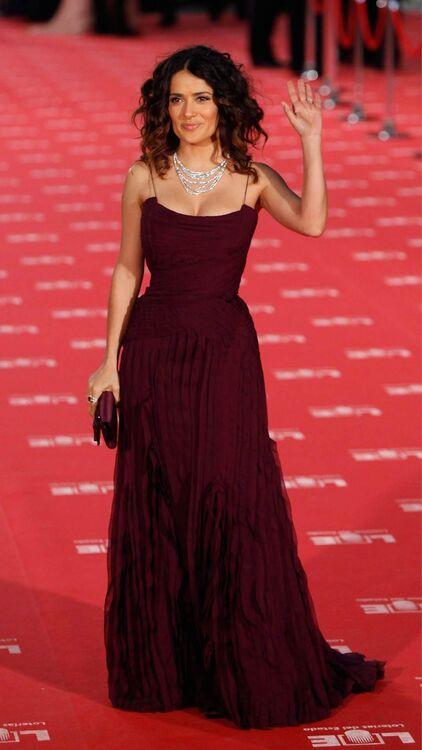 Salma Hayek's Best Red Carpet Looks