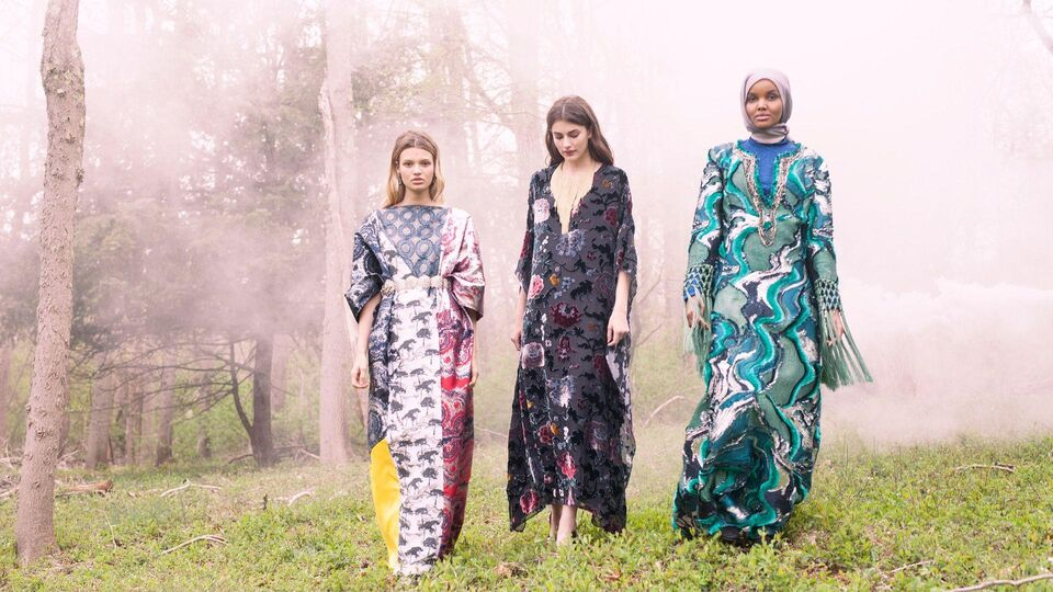 The Campaign Shots For The Modist's Exclusive Kaftan Collection Are In