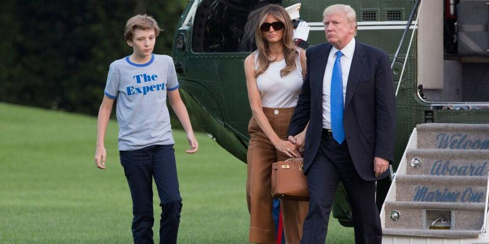 Melania And Barron Trump Have Officially Moved Into The White House