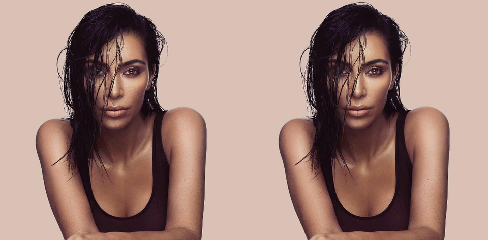 Kim Kardashian West Goes Make-Up Free To Demonstrate How To Use Her Contour Kit