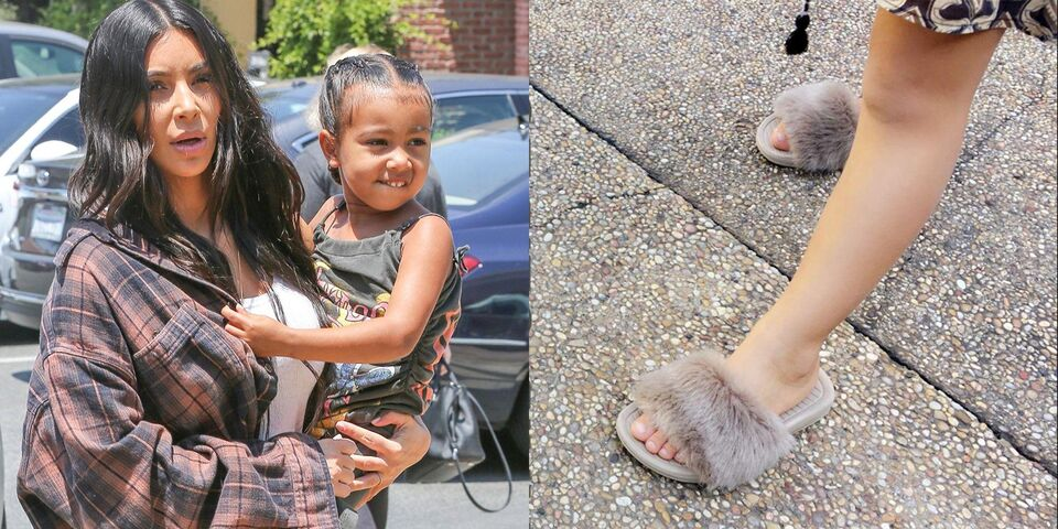 Kim And Kanye Are Making Fur Sliders For Kids