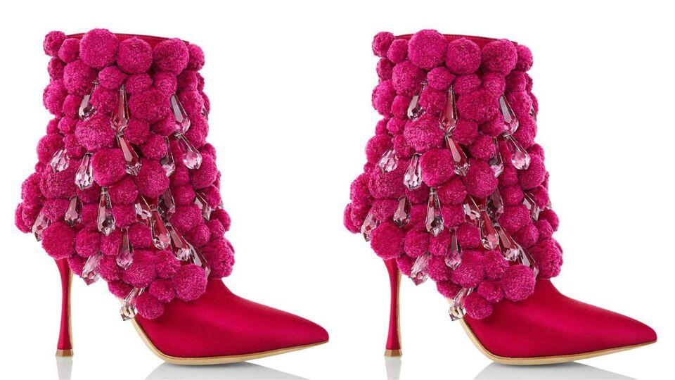Manolo Blahnik Unveils Dhs20,000 Crystal Pom Pom Boots