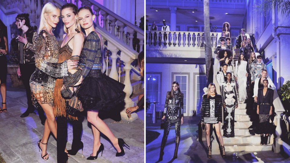 Balmain Celebrates LA Store Opening With A Celebrity House Party