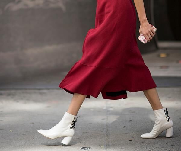 White Booties Are Having A Mini Fashion Moment Right Now