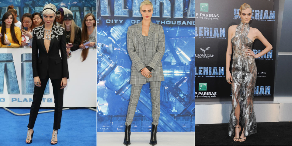Cara Delevingne's Valerian Promo Tour Wardrobe Is Seriously Cool