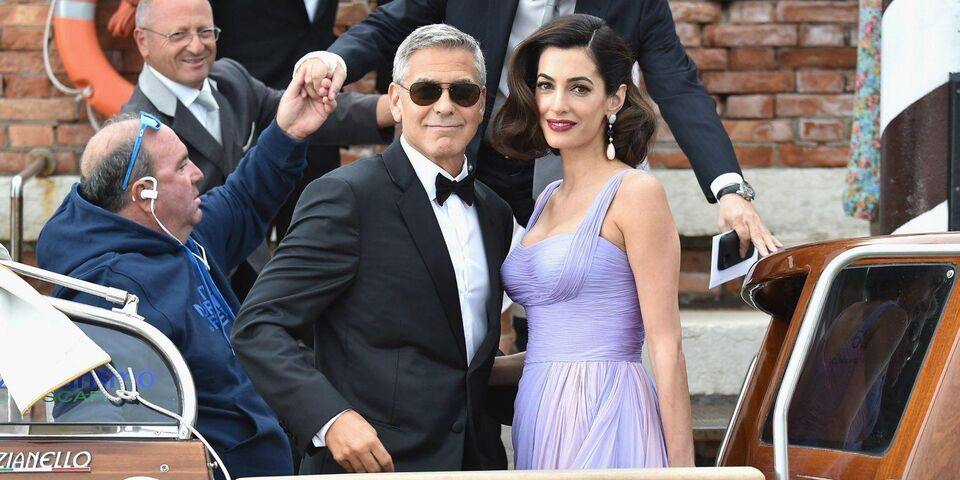 George and Amal Clooney Make First Post-Baby Appearance On Red Carpet