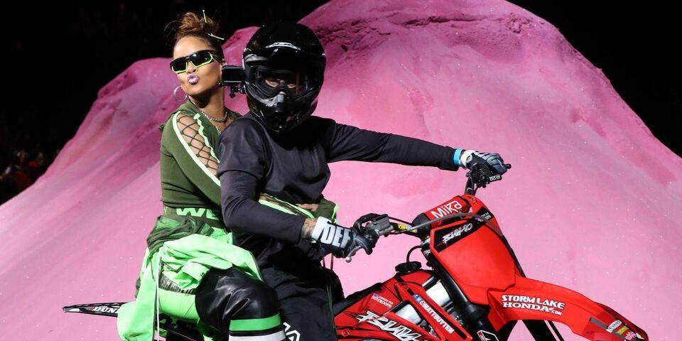 Rihanna Threw A Dirt Bike-Themed Fenty X Puma Show For Spring/Summer 2018